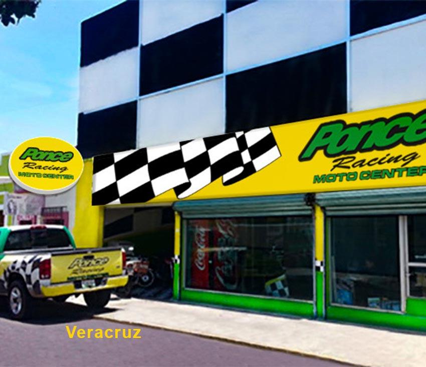 Exterior de Sucursal Ponce Racing Veracruz