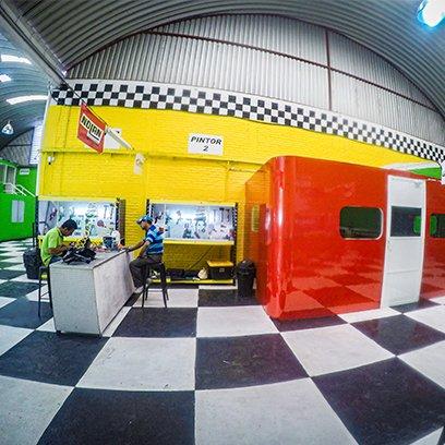 Taller de reparación de motos ponce racing y cabina de pintura